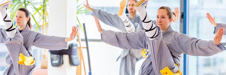 Kicktraining im im Shaolin Chan Tempel Luzern - Schweiz.