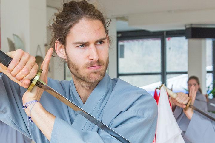 Instruktorenbild des Shaolin Chan Tempels Schweiz, Dominik Pfyffer.