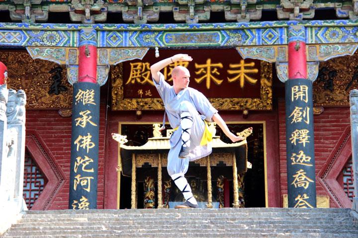 Instruktorenbild des Shaolin Chan Tempels Schweiz, Lin Xian.