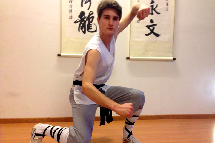 Instruktorenbild des Shaolin Chan Tempels Schweiz, Noah Arfini.