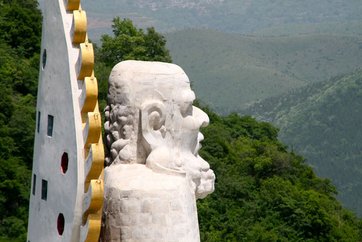 Ansicht der Bodhidharma Höhle in Shaolin, China.