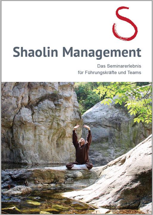 Das Coverbild der Informationsbroschüre für Shaolin Management - Die Seminare für Führungskräfte.
