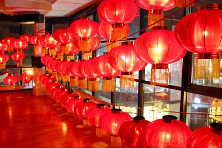 Chinesische Lampions im Shaolin Chan Tempel Luzern - Schweiz.