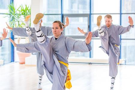Kick Training im Shaolin Chan Tempel Luzern - Schweiz.