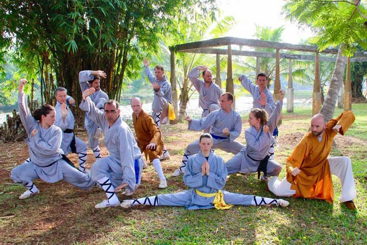 Gruppenfoto - Shaolin Chan Tempel Schweiz Trainingslager 2018 in Indien.