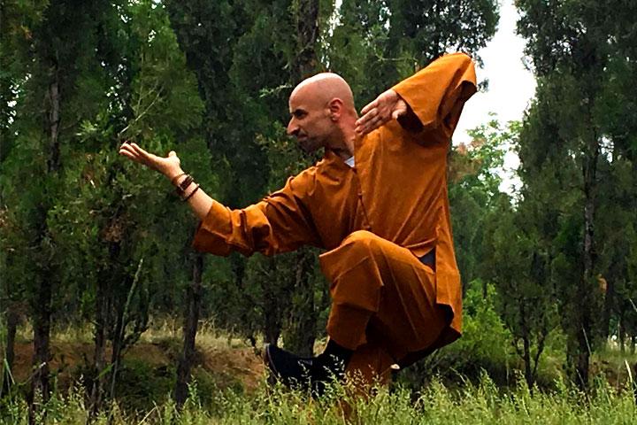 Meister Salvi Ferrara (Lin Ying) praktiziert Kung Fu in den Wäldern Chinas.
