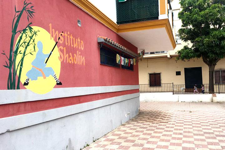 Das Shaolin Chan Temple Institute Spain von aussen.