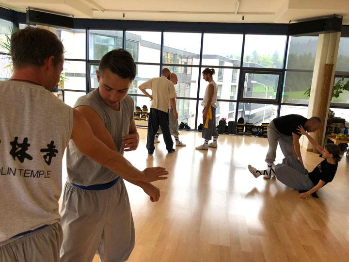 Kung Fu Anwendungstraining.