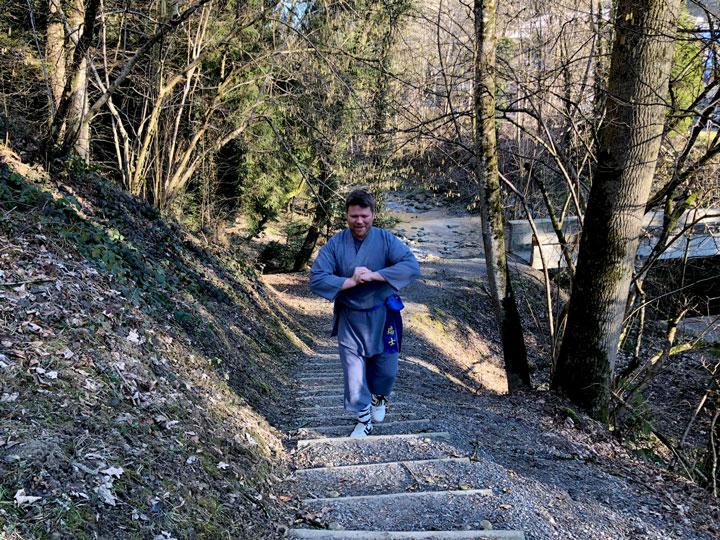 Michael beim joggen.