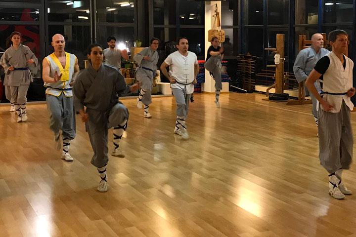 Kung Fu Kick Training.