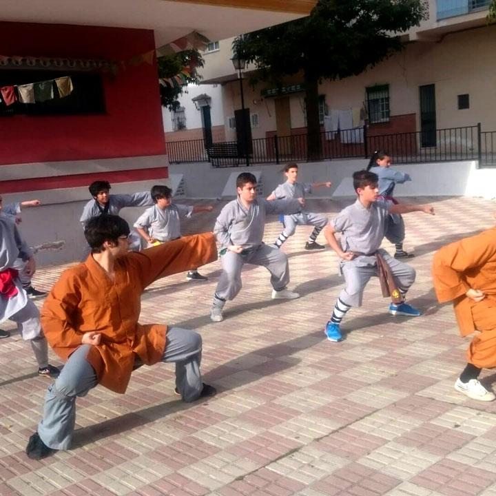 Shaolin Kung Fu Unterricht in San Pedro.