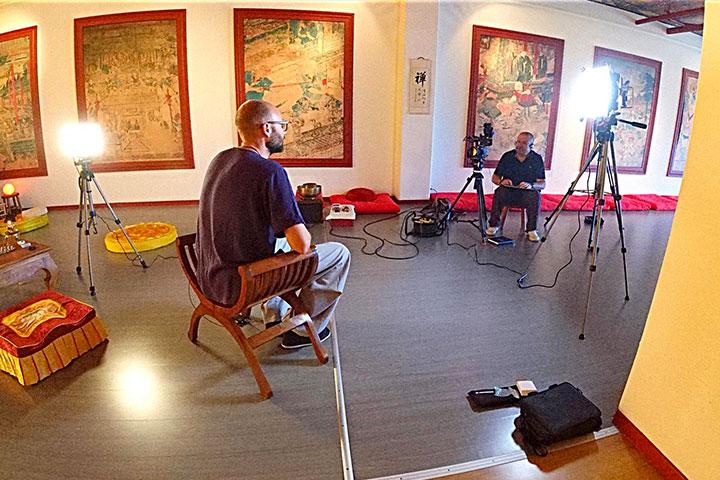 Aufnahmen von den Dreharbeiten zum neuen Shaolin Film.
