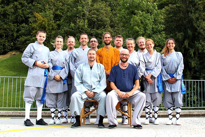 Intensivwoche 2020 Shaolin Chan Tempel Schweiz Gruppenbild