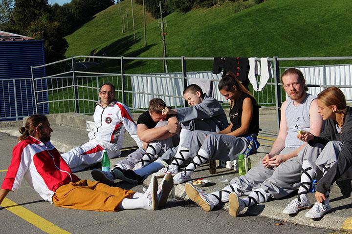 SchülerInnen bei Pausen Aktivität