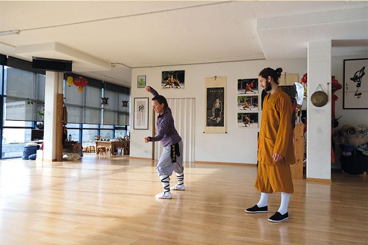 Kung Fu Unterricht.