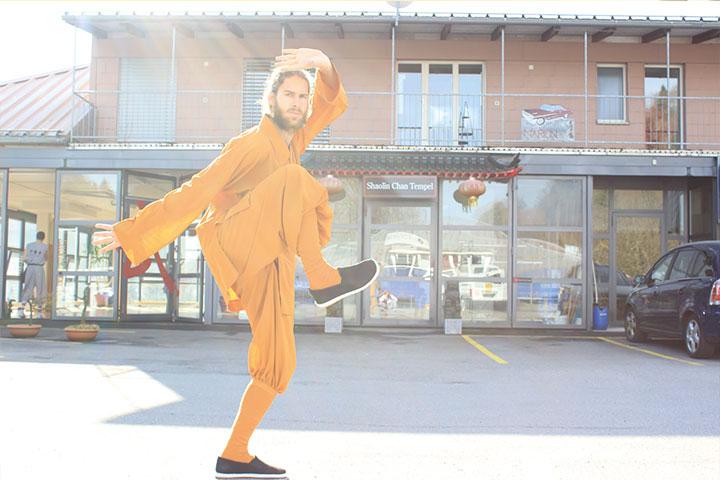 Kung Fu Instruktor Dominik Pfyffer