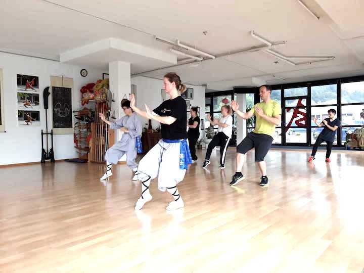 kung fu unterricht in der gruppe