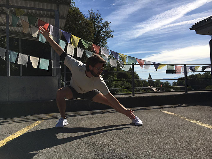 Kung Fu Training draussen