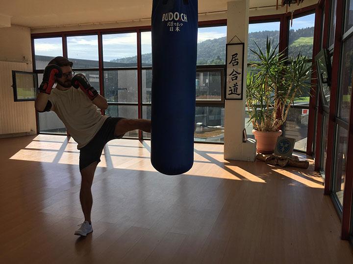 Training am Sandsack