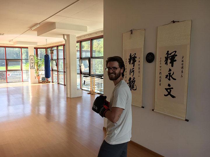 Riccardo in der Kampfkunsthalle