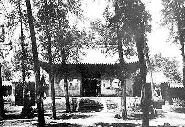 Altes Foto aus Shaolin Kloster vor 1928